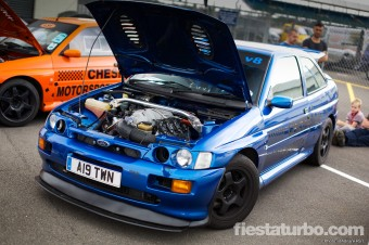 Blue V8 Escort Cosworth