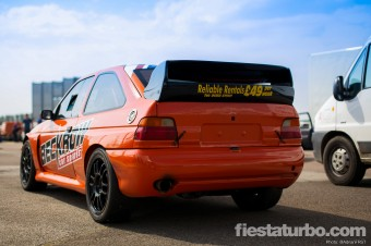 Orange WRC Kitted Escort Cosworth - Rear